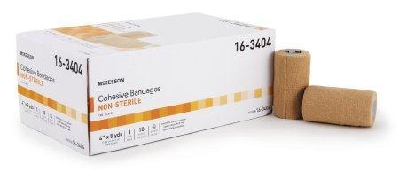 Yd Cohesive Elastic Bandage Wrap - McKesson 16-3404 Medi-Pak Performance Cohesive Bandage, Non-sterile, Stretched, 4