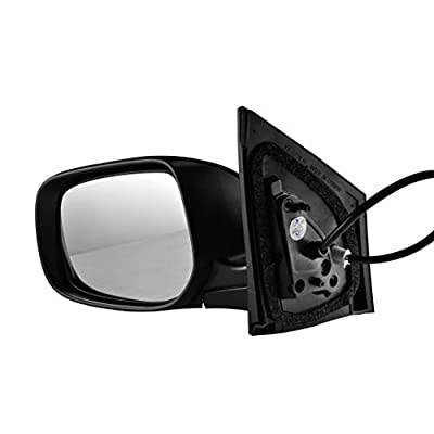 Left Driver Side Unpainted Power Operated Side View Mirror for 2009-2013 Toyota Corolla - TO1320249: Automotive