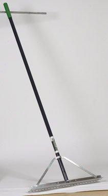 Midwest Rake 12048 48'' Head Field/Aggregate Rake, 66'' Blue Aluminum Handle
