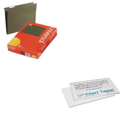 KITPAC74720UNV14115 - Value Kit - Pacon Chart Tablets w/Manuscript Cover (PAC74720) and Universal Hanging File Folders (UNV14115) (Pac74720 Chart)