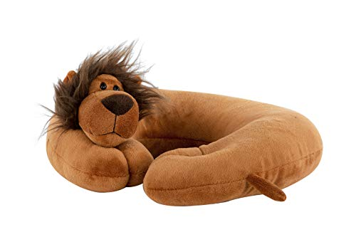 Global Comfort Best Comfortable Travel Pillow - Airplane Neck Pillow for Kids and Adults - Soft and Comfortable Plush Puppy Support for Head and Neck, Great for Car, Flying & Traveling