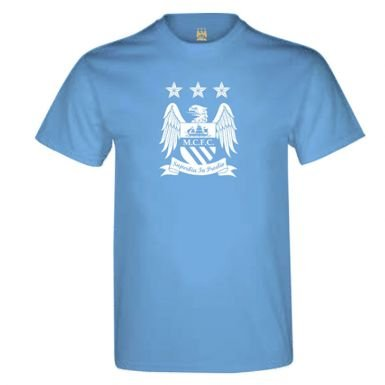 97bb25b2193 Image Unavailable. Image not available for. Color  Official Man City Crest  T-Shirt