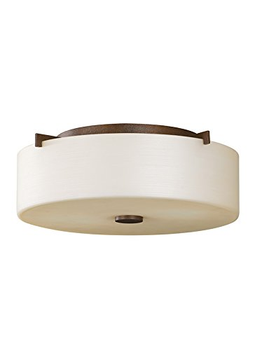 Feiss FM313CB Sunset Drive 2 Light Indoor Flush Mount, Corinthian Bronze