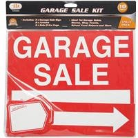 Garage Sale Signs an Tags 2 Signs, 2 Arrows, 6 Sale Price Tags for Yard Sale