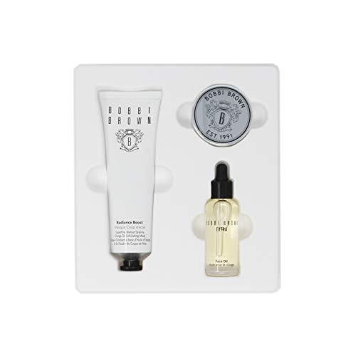 Bobbi Brown The Bobbi Glow Skincare Trio Set with Extra Face Oil, Radiance Boost Superfine Walnut Grain and Orange Oil Exfoliating Mask and Tinted Lip - Ww Trio