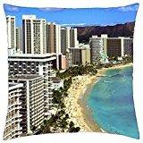 Waikiki Beach Honolulu (Waikiki Beach, Honolulu , Hawaii - Throw Pillow Cover Case (18)