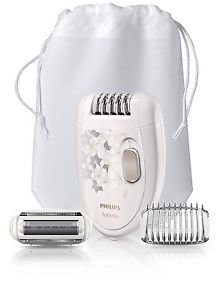 Philips Hp6423/00 Satinelle Corded Epilator + Ladyshaver Head + Trimming Comb Good Gift for Good Day Fast Shiping by Philips