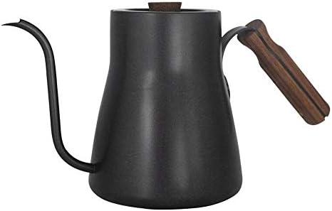 コーヒーケトル コーヒーケトル手醸造コーヒーポットファイン口ドリップタイプロング口ステンレス鋼 ドリップコーヒーと紅茶用 (色 : Black, Size : One size)