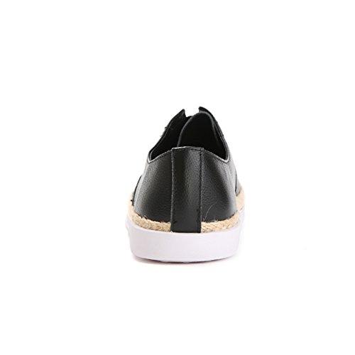 Paja caída ronda del dedo del pie/Pie plano zapatos/Zapatos de mujer casual A
