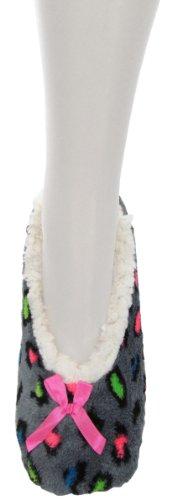 Lined Cheetah Slipper Fleece Sherpa Womens Socks Cozy HqWpBWnv