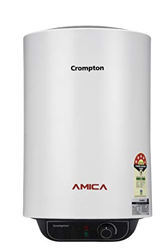 Crompton Amica ASWH-2015 15-Litre Storage Water Heater (Black and White)