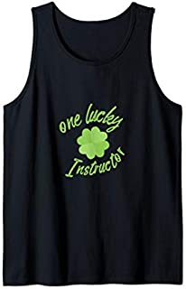 One Lucky Instructor St Patricks Day Fitness Gift  Tank Top