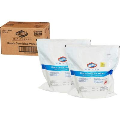 Clorox� Healthcare� Germicidal Wipes, 12 x 12, Unscented, 110/Refill