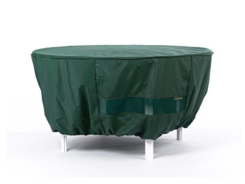 Covermates Round Dining Table Cover 60DIAMETER x 25H Classic 12 Gauge Vinyl Elastic Hem Built-in Mesh Vent 2 YR Warranty Weather Resistant – Green
