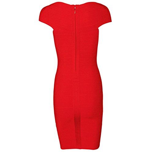 Blau Rot Kleid Rot Damen Rot HLBCBG AU4nTT