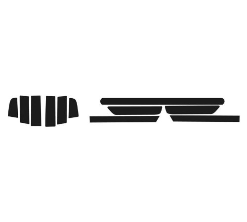 Subject 9 - Ford Mustang Pre-cut vinyl overlay tail light PLUS tint kit (2013 2014) DARK (Bumper Lower Overlay Rear)