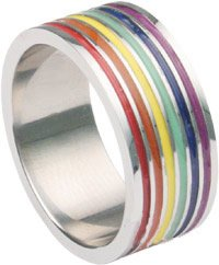Inexpensive Gay Pride Wedding Rings Or Engagement Rings for Gay