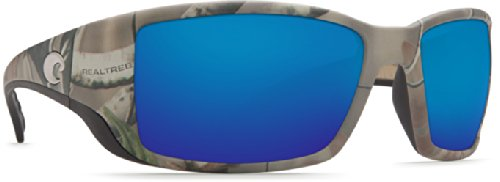 Costa Del Mar Blackfin Sunglasses, Realtree Xtra Camo, Blue Mirror 580 Glass - Lenses Camo Sunglasses With