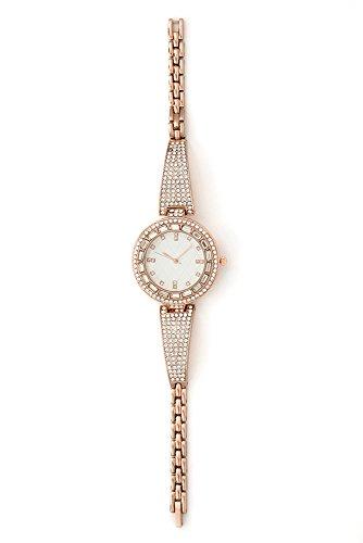 - Shine Like a Diamond!! Bling Bling Ladies Rhinestone Dainty Watch - ST10151 Rose Gold