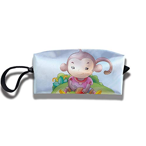 Cosmetic Bags With Zipper Makeup Bag Monkey Play Dice Middle Wallet Hangbag Wristlet -