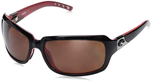 Costa Del Mar Isabela Sunglasses, Black/Coral, Copper 580P Lens