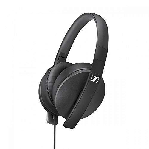 Sennheiser HD 300 lichte, opvouwbare ronde oor-hoofdtelefoon zwart
