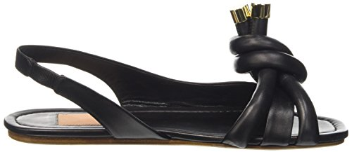 Kallisté 5707 - Sandalias de Talón Abierto Mujer Negro - Schwarz (NAPPA NERA)