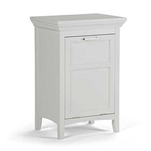 Simpli Home AXCBC-001-WH Avington 29.9 inch H x 20.5 inch W Laundry Hamper in White