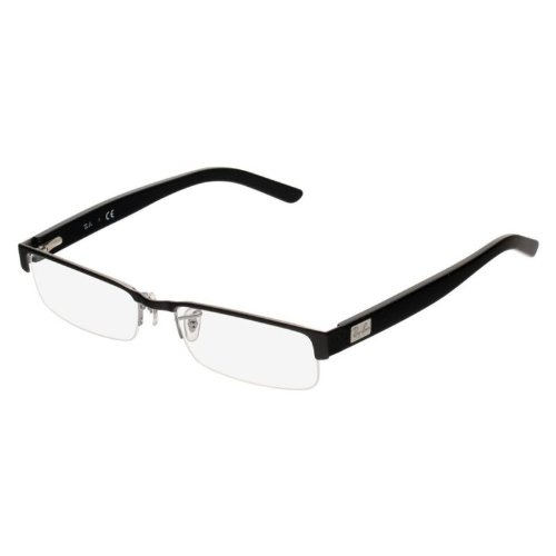 Rx Prescription Eyeglass Frame - Ray-Ban RX6182 Eyeglasses Black Front w/ Gunmetal Temples 53mm
