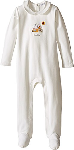 Dolce & Gabbana Kids Baby Boys' Mimmo Collared One-Piece (Infant), White, 6-9 Months (Dolce 7 Gabbana)