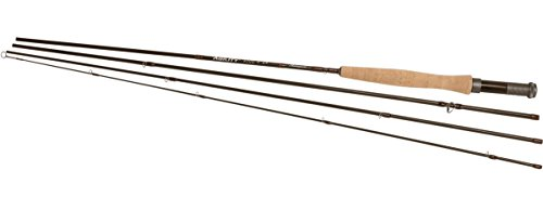 Shakespeare Agility 2 Rise 3wt Fly Fishing Rod, Brown, 6 ft