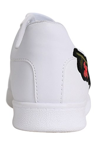 PILOT® Women's Embroidered Floral Trainers in White White jgG49WMZ