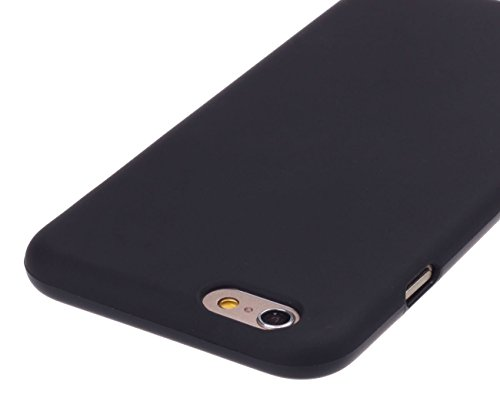 Case for iPhone 6 6S,Cotowin [Black] Matte TPU Soft Case Cover for...