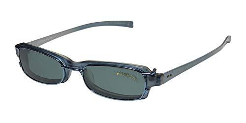SmartClip 906 Mens/Womens Cat Eye Full-Rim Shape Sunglass Lens Clip-Ons Flexible Hinges Eyeglasses/Eye Glasses (48-17-140, Blue/Pearl) (Blue Cat Eye Brille)