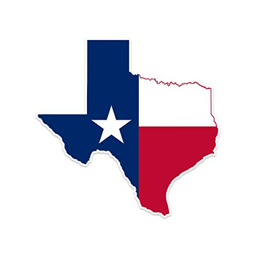Bargain Max Decals - Texas State Map Flag -Sticker Decal Notebook Car Laptop 4