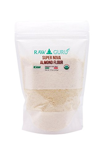 RawGuru Supernova Natural Almond Flour - Non Bitter, Slightly Sweet, Fresh With a Hint of Amaretto, Organic, Unpasteurized, Superior Quality (12 Oz)