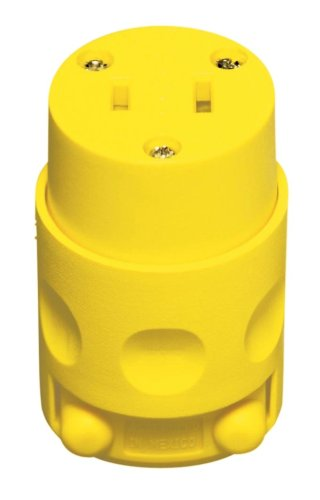 Leviton L00-115CV-000 15 Amp Vinyl Connector 2 Wire Yellow by Leviton