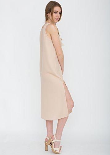Nude Sheer Midi-Behälter-Kleid