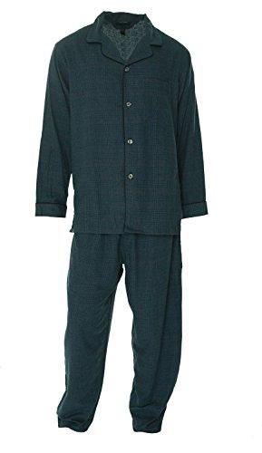 Club Room Mens Flannel Pajama Sleep Set navyglnpld S