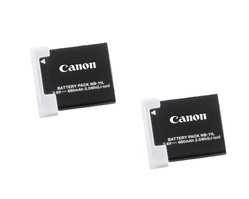 Canon Battery Rechargeable Lithium Ion (Canon NB-11L 2x Rechargeable 3.6V 680mAh 2.5Wh Lithium-Ion Battery Pack)
