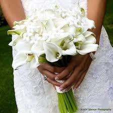 Classic White Mini Calla Lily Wedding Bouquet
