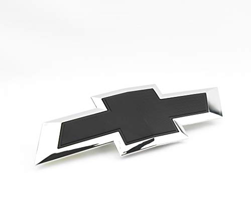 (1 Custom Black & Chrome Silverado 1500 2014-2015 Grill Bow TIE Emblem)