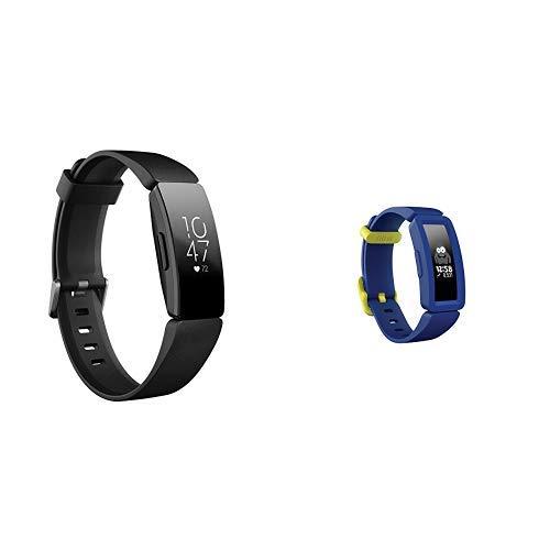 Fitbit Inspire HR フィットネストラッカー Black +Ace 2 お子様向け 超軽量20g ナイトスカイ+ネオンイエロー日本正規品セット   B07SYZX8ZH