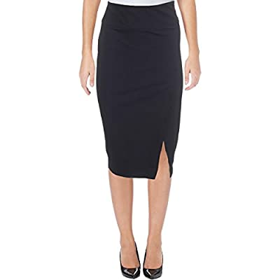 Ivanka Trump Womens Side Slit Knee-Length Straight Skirt