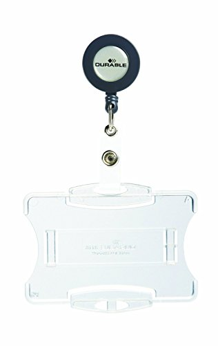 Durable Office Open Face Style ID Badge Holders with Reel...