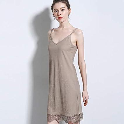 MENSDXA Robe Nouvelle Robe D'Été en Coton De Coton De V Cou