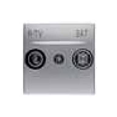 Schneider Electric U9.441.30 Caratula Toma R-TV/SAT, Aluminio
