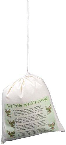 The Cotton Bag Store Ltd Five Little Speckled Frogs Cotton Drawstring Bag 38cm x 43cm -