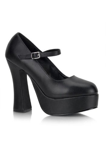 - Pleaser Women's DOLLY-50/B/PU Mary Jane Pump,Black Polyurethane,14 M US