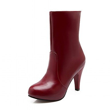 RTRY Women'S Boots Spring Fall Winter Platform Comfort Novelty Patent Leather Leatherette Wedding Office &Amp; Career Dress Casual Party &Amp; Evening US2.5 / EU34 / UK1.5 Little Kids FFR46